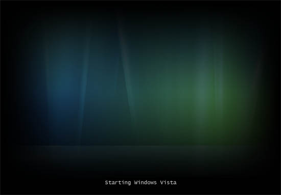 Vista Aurora boot screen