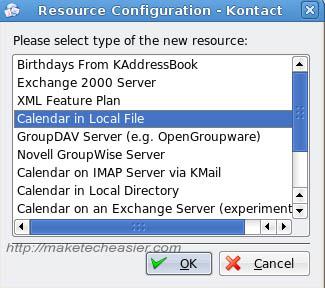 Kontact add new calendar2