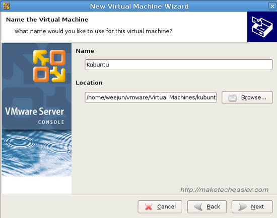 kubuntu vmware 3