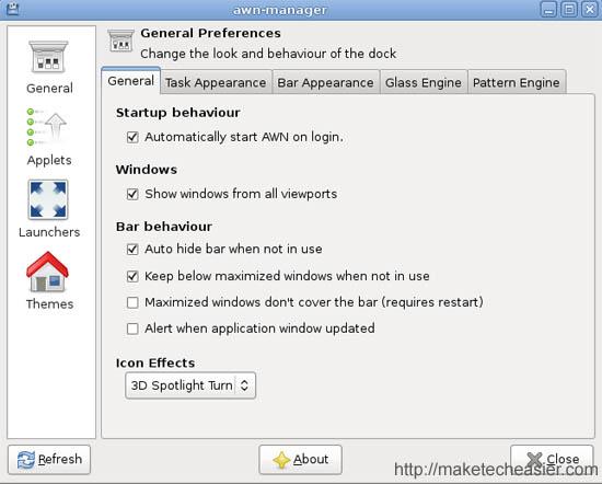 AWN general preferences
