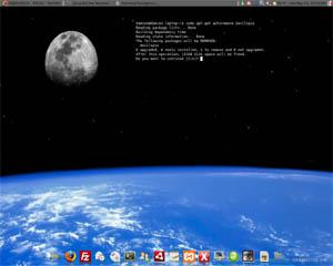 terminal on desktop