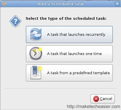gnome-schedule-new-task