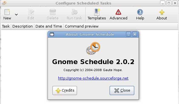 gnome-schedule