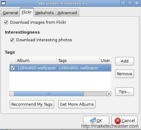 webilder-flickr-tab