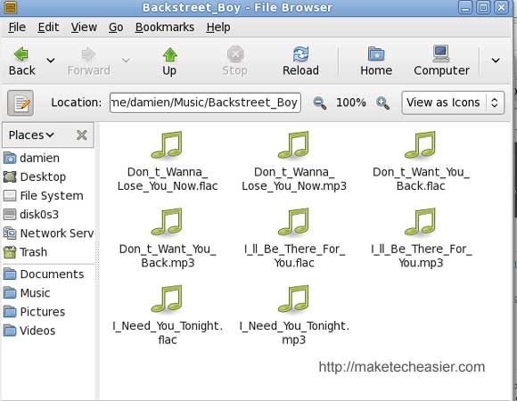 soundconverter converted mp3 files