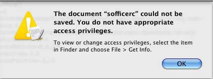 OpenOffice in Mac error message
