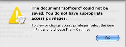 OpenOffice in Mac error message