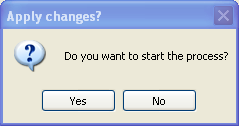 Click Yes to Confirm Changes