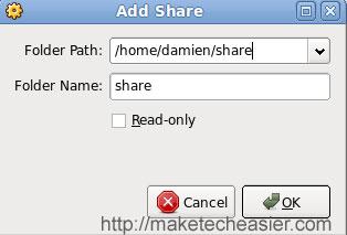 Virtualbox add share path
