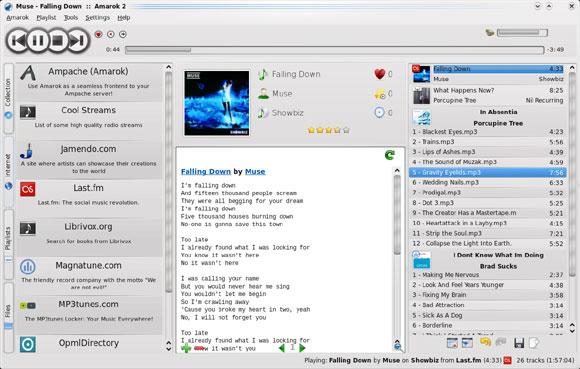 Amarok-2 user interface