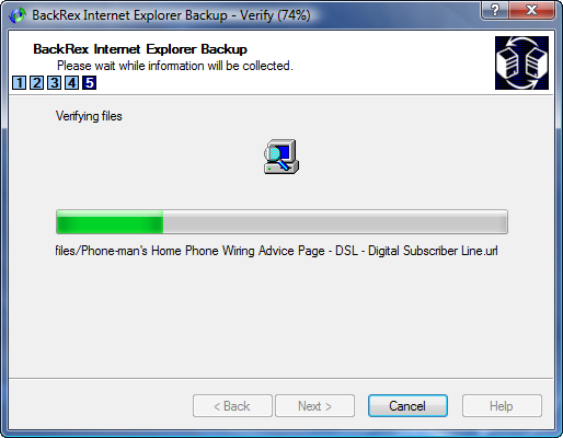 IE Backup In Progress 2
