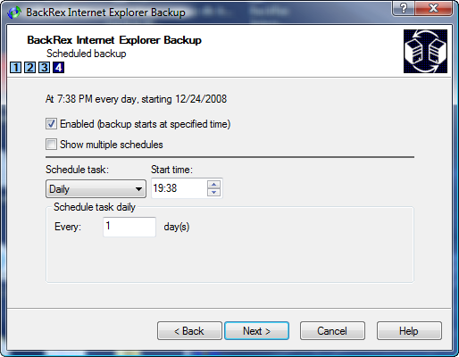 IE Backup Schedule