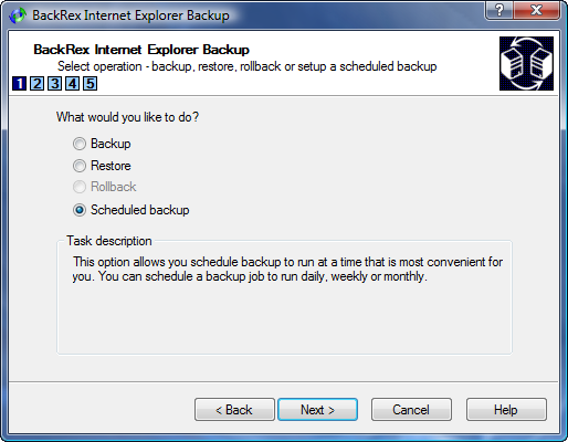 IE Backup Scheduled Backup