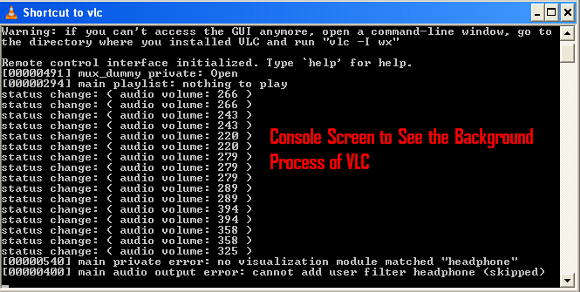 console-screen