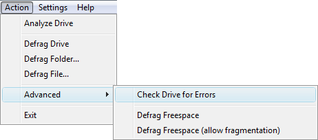 defraggler check errors