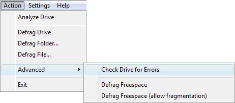 defraggler check errors
