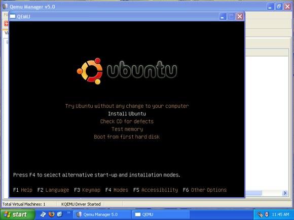 qemu ubuntu