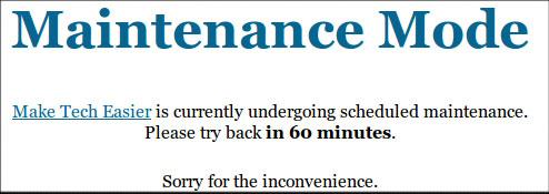 maintenance-mode