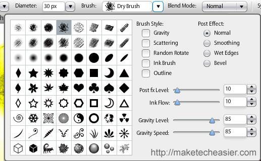 sumo-paint brushes