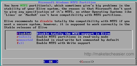 elive ntfs support