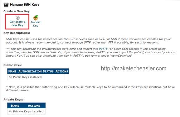 generate new ssh key