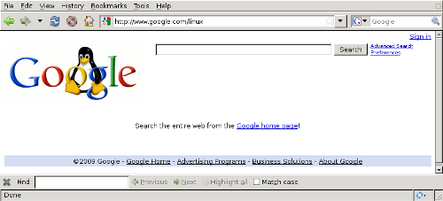 Google's Linux Search