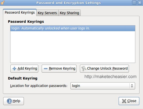 password-keyring