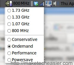 cpu frequency selection