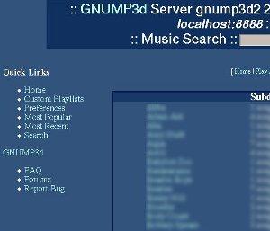 Screenshot of gnump3d