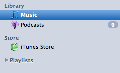 Modified iTunes Sidebar