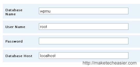 Wordpress mu database entry