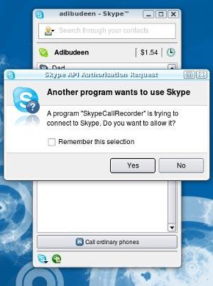 Starting Skype Call Recorder