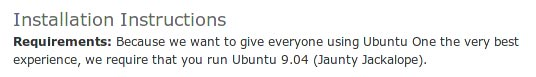 ubuntuone-requirement