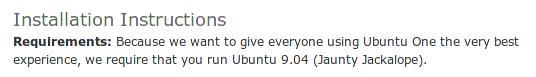 ubuntuone-requirement