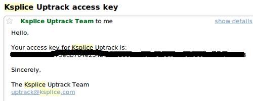 Uptrack Email