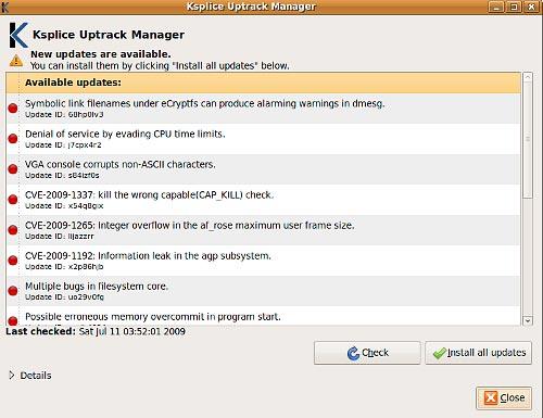 Uptrack Manager