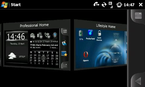 Spb Mobile Shell 3 Professional and Lifestyle desktop selection