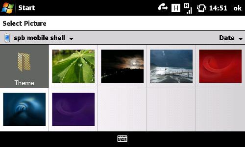 Spb Mobile Shell 3 Lifestyle desktop view background choices