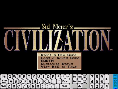Sid Meier's Civilization running on pDOSbox 2.0