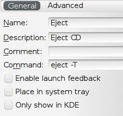 keyboard shortcut eject