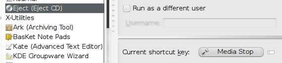 keyboard shortcut eject2