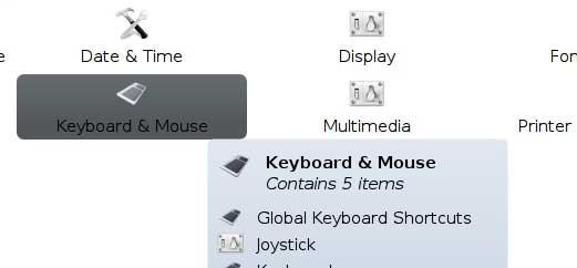 keyboard shortcut system settings