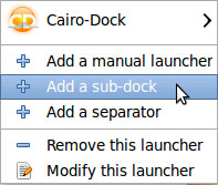 Cairo dock - add a sub dock