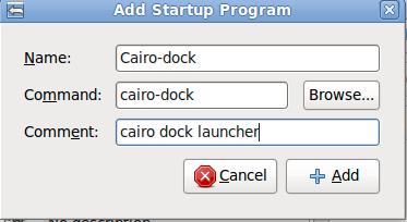 autostart cairo-dock
