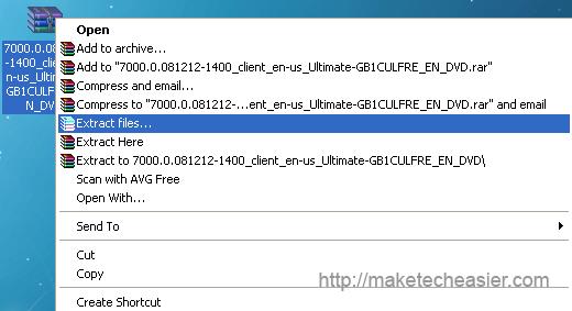 extract windows 7 ISO