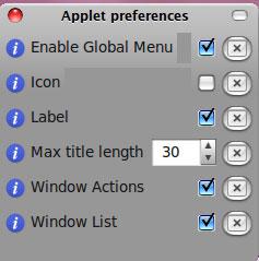 globalmenu preferences