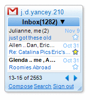 Gmail Google Desktop Gadget