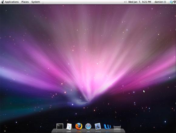 mac desktop with awn