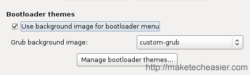 enable grub theme