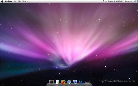 ubuntu intrepid mac osx desktop
